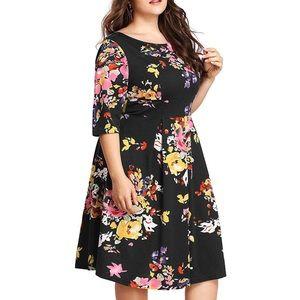 Dresses & Skirts - LOW STOCK💥Plus Floral Contour Dress, 14W-20W